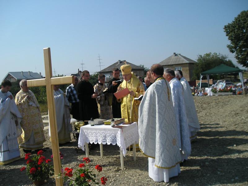 2009 - Освячення наріжного каменя і фундаменту майбутнього храму